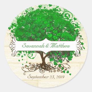 Joint vert de mariage d arbre de feuille de coeur