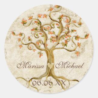 Joints assortis de mariage Antiqued par racines Sticker Rond