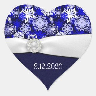 Joints bleus et blancs d'hiver de flocon de neige  autocollants