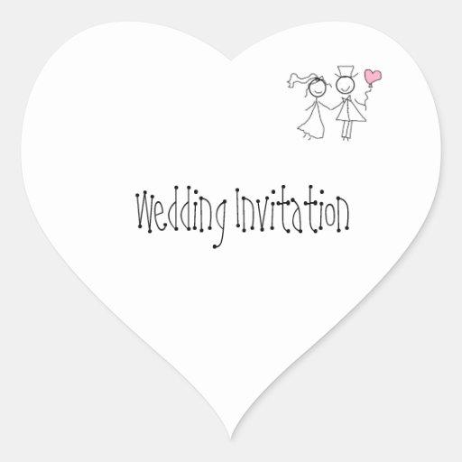 Joints customisés de faire-part de mariage adhésif