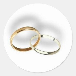 Joints d'enveloppe d'anneaux de mariage… adhésifs ronds