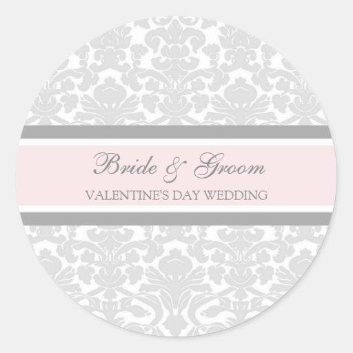 Joints d'enveloppe de marié de jeune mariée de adhésif rond