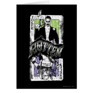 Joker et Harley du peloton | de suicide putréfiés Carte De Vœux