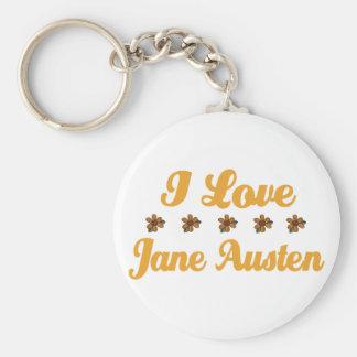 Joli amant de Jane Austen Porte-clé Rond