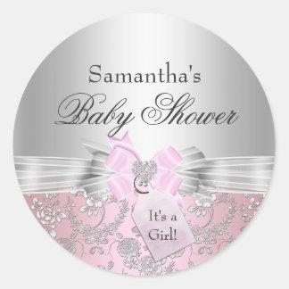 Joli arc et autocollant floral de baby shower