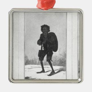 Joli Bob, pauvre Bob, Bob arqué, 1819 Ornement Carré Argenté