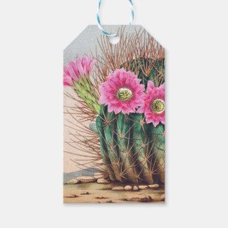 joli cactus étiquettes-cadeau