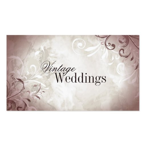 Joli carte de visite vintage de wedding planner de
