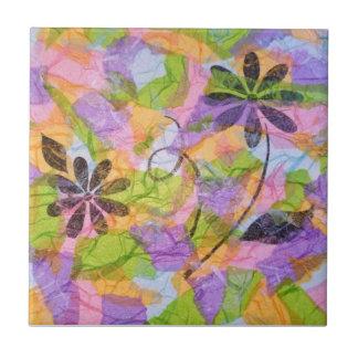 Joli collage de petits bouquets petit carreau carré