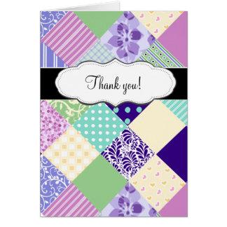 Joli édredon de patchwork personnalisable cartes de vœux