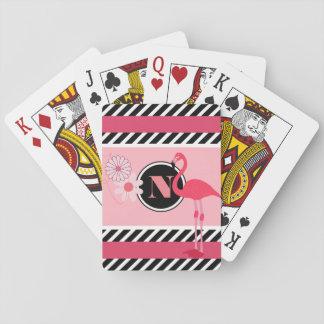 Joli flamant personnalisé jeu de cartes