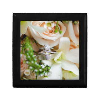 Joli-floral-C.C-mariage-anneau-tir-Rebekah-Hoyt-PH Petite Boîte À Bijoux Carrée