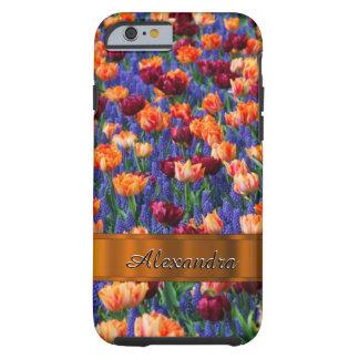 Joli gisement de fleur personnalisé de tulipe coque tough iPhone 6
