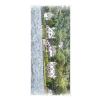 Joli lakescape carton d'invitation  10,16 cm x 23,49 cm