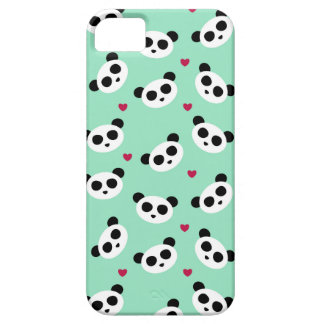 Joli motif de panda étuis iPhone 5