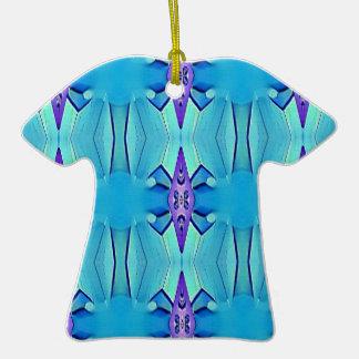 Joli motif Girly lilas bleu azuré Ornement T-shirt En Céramique