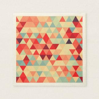 Joli motif II de triangle + vos idées Serviettes En Papier
