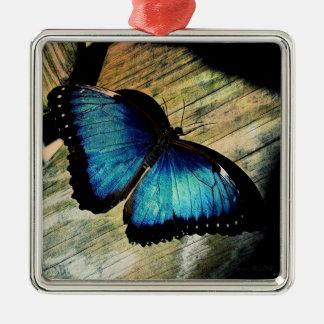 Joli ornement de Morpho d'insecte bleu de papillon