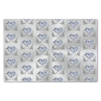 Joli papier de soie de soie de diamant
