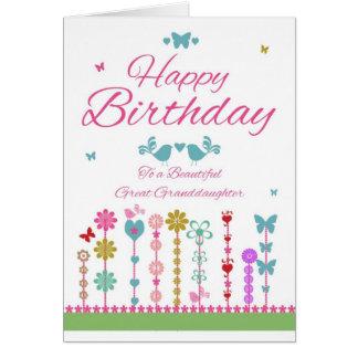 Joli papillon de carte d'anniversaire