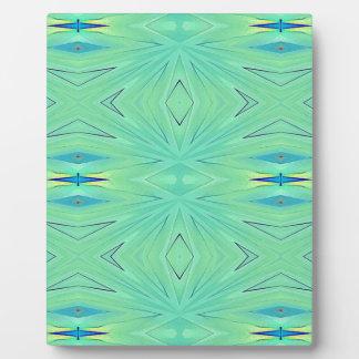 Joli ressort vert en bon état de pastel d'Aqua Photo Sur Plaque