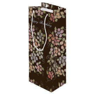 Joli sac fleuri de vin de chocolat