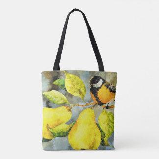 Joli sac fourre-tout à poirier d'oiseau