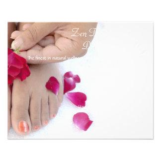 Joli salon fuchsia de pédicurie de rose de rose prospectus 11,4 cm x 14,2 cm