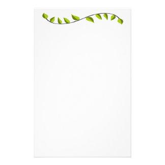 Joli soin vert de fantaisie de pelouse papier à lettre