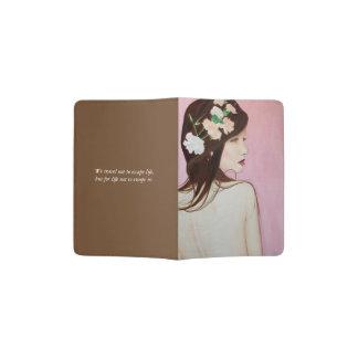 Joli support de passeport de portrait protège-passeport