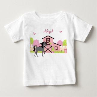Joli T-shirt personnalisé de cheval de grange et