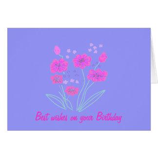 Jolie carte d'anniversaire de fleur