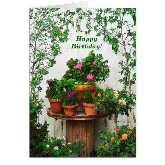 Jolie carte d'anniversaire de roses