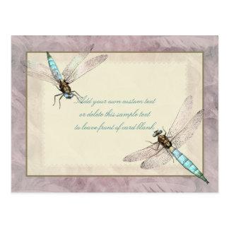 Jolie carte de message de libellules cartes postales