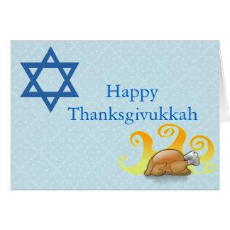 Jolie carte de voeux de Thanksgivukkah