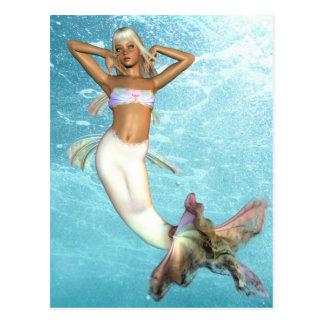 Jolie carte postale de sirène