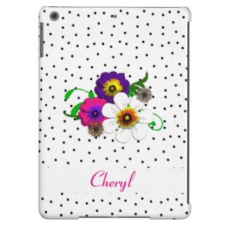 Jolie conception de fleur et de taches coque iPad air