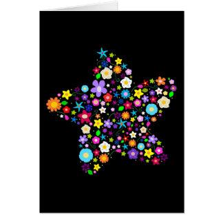 Jolie étoile de fleur cartes