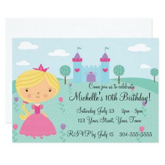 Jolie fête d'anniversaire de princesse carton d'invitation  12,7 cm x 17,78 cm