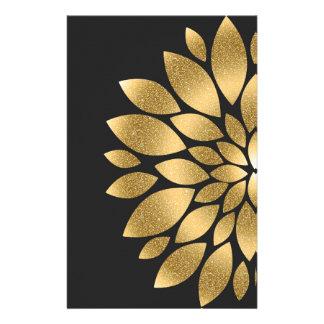 Jolie fleur d'abrégé sur scintillement de faux papeterie
