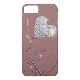 jolie fleur de bijou de coeur coque iPhone 7