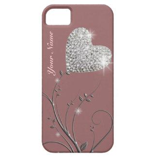 jolie fleur de bijou de coeur coques iPhone 5 Case-Mate