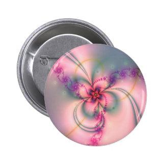 Jolie fleur de fractale badge rond 5 cm