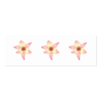 Jolie fleur de lis carte de visite petit format