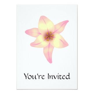 Jolie fleur de lis carton d'invitation  12,7 cm x 17,78 cm