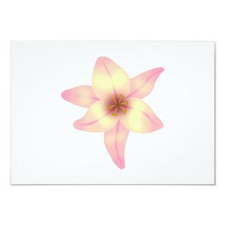 Jolie fleur de lis carton d'invitation 8,89 cm x 12,70 cm
