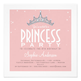 Jolie invitation de fête d anniversaire de princes