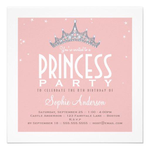 Jolie invitation de fête d'anniversaire de princes