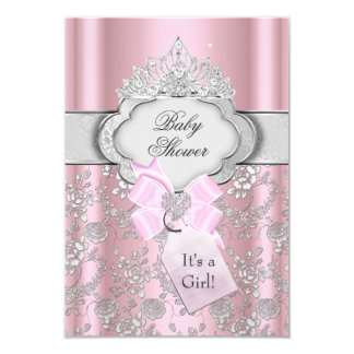Jolie invitation de princesse baby shower de