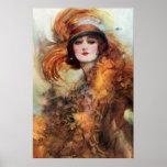 Jolie mode des années 1920 de femme posters